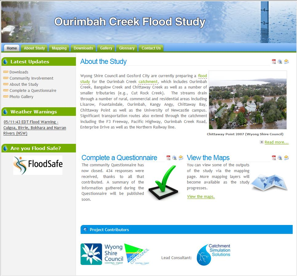 Flood Study Websites