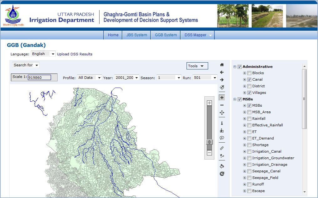 Uttar Pradesh Water Resources Decision Support System, India